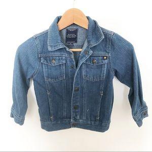 Lucky Brand Girls Denim Snap Button Jacket Size 4T